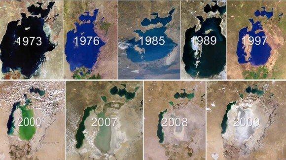 Culture du coton: assèchement de la mer d'Aral